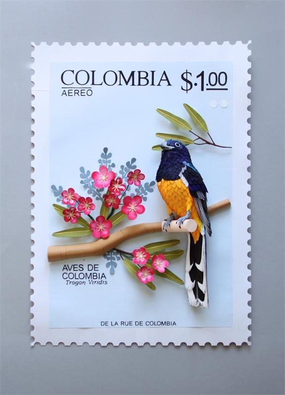 Бумажные скульптуры птиц от Дианы Белтран Херрера