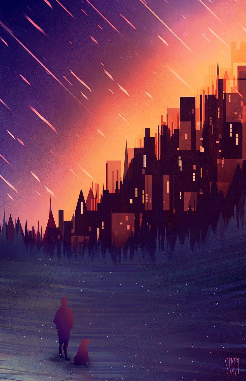 Геометрические городские пейзажи Скотта Уминга