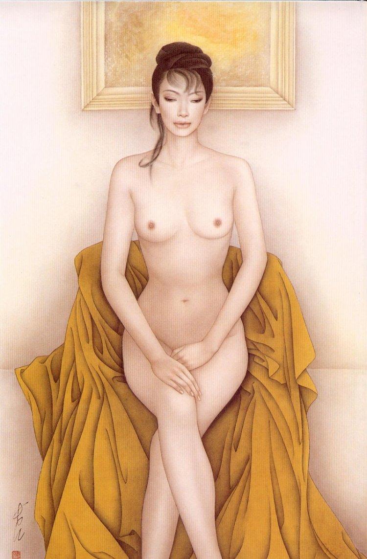 Девушки на картинах Feng Chang Jiang