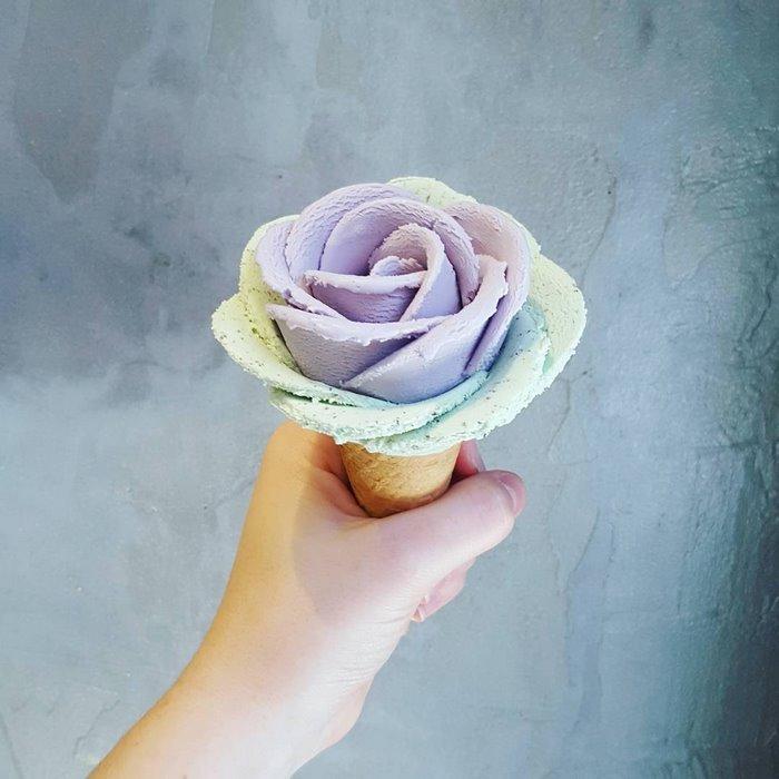 Цветы из мороженого