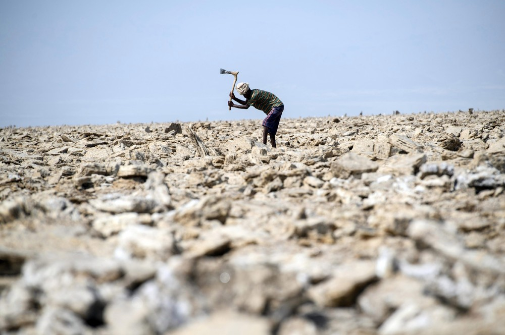 Добыча соли в Эфиопии