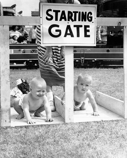 Как проходили ретрогонки ползающих малышей
