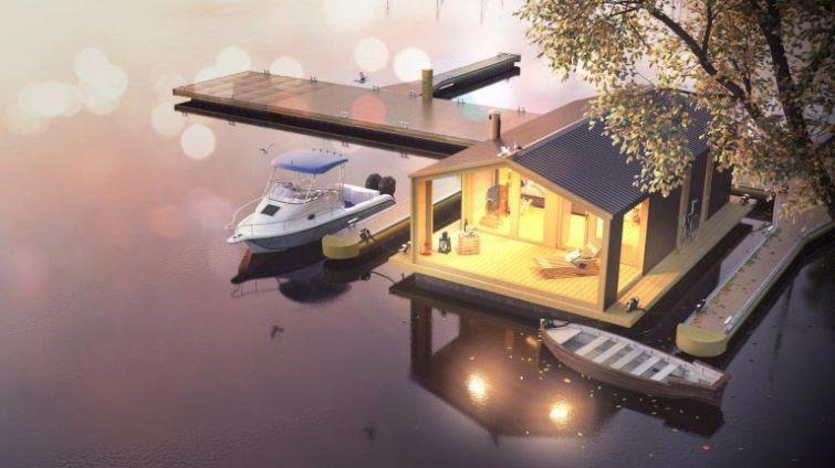 Плавающие дома для спокойствия и умиротворения