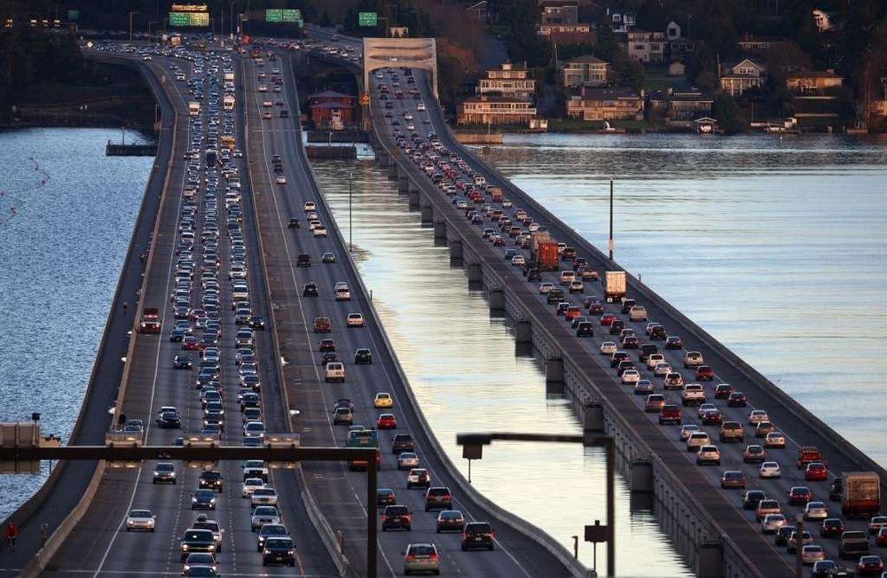 Плавучие мосты в Сиэтле