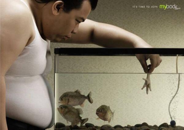 20 примеров креативной рекламы, мотивирующей сбросить лишний вес