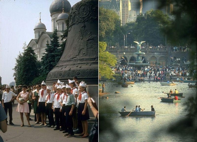 Отличия Москвы и Нью-Йорка в 1969 году