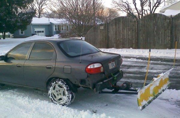 Творческий подход к уборке снега