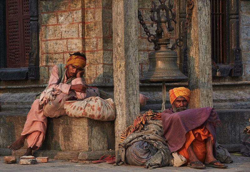 Аскеты на улицах Непала