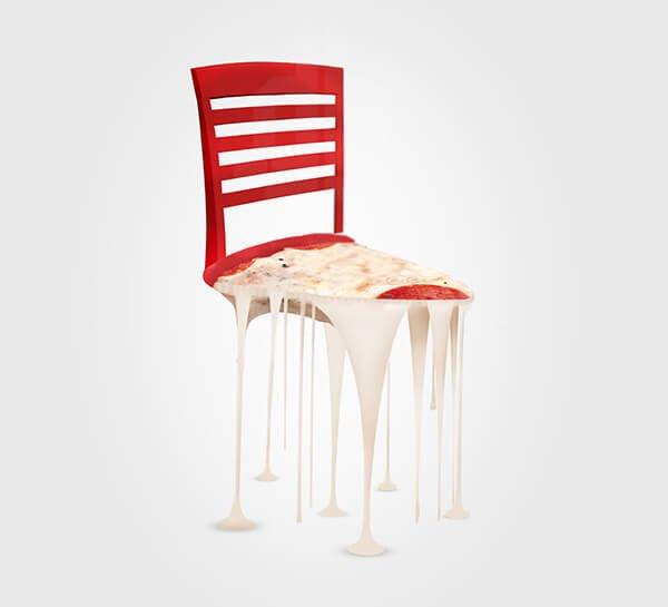 Необычные стулья в виде еды
