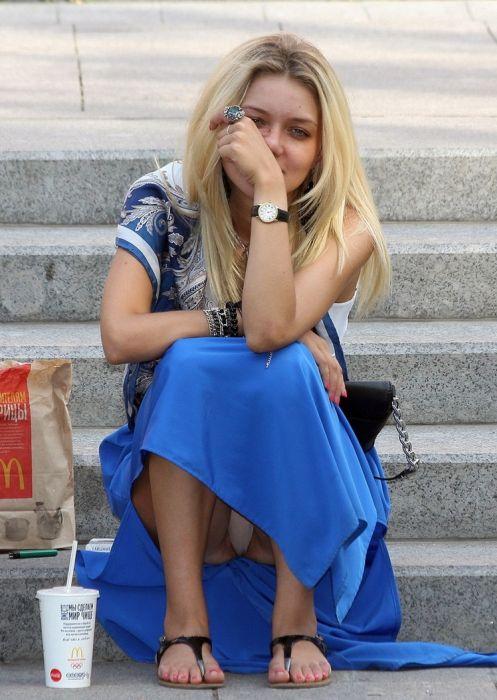 Засветы девушек: нижнее белье