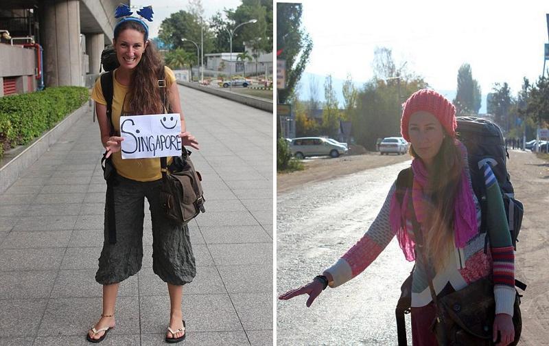 Девушка проехала автостопом 70 тыс. километров по всему миру