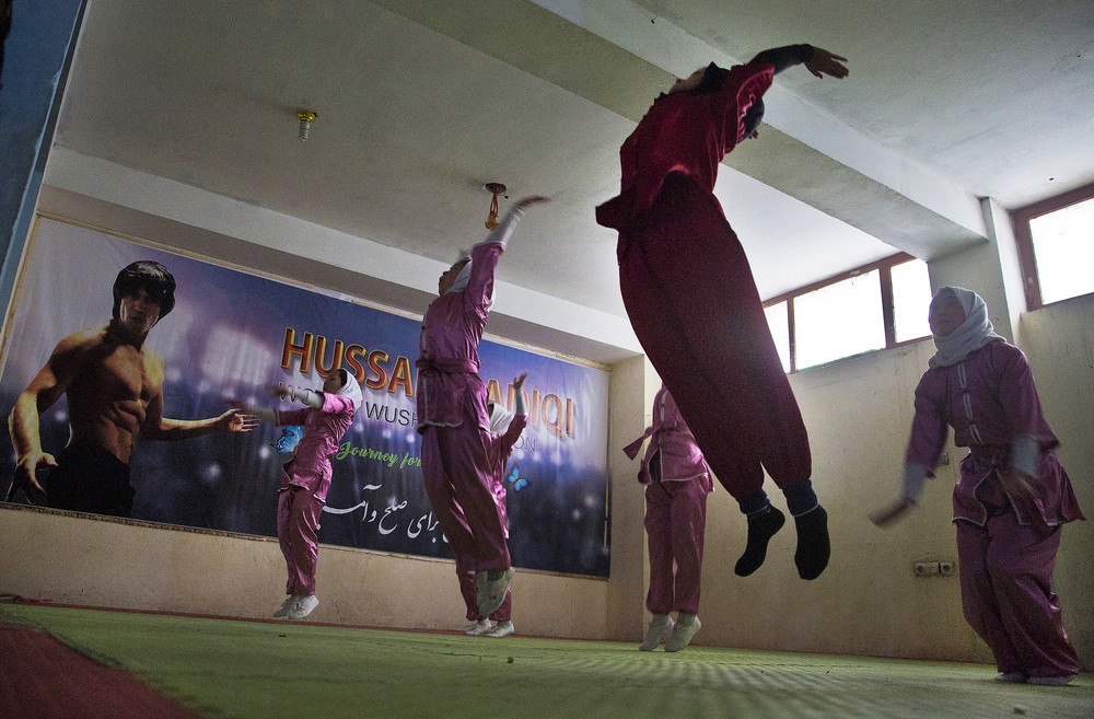 Женский клуб Шаолинь в Афганистане