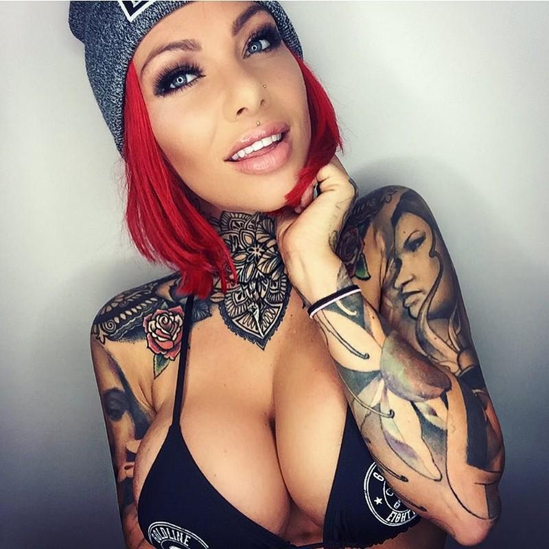 Tattoos piercings and big juicy tits