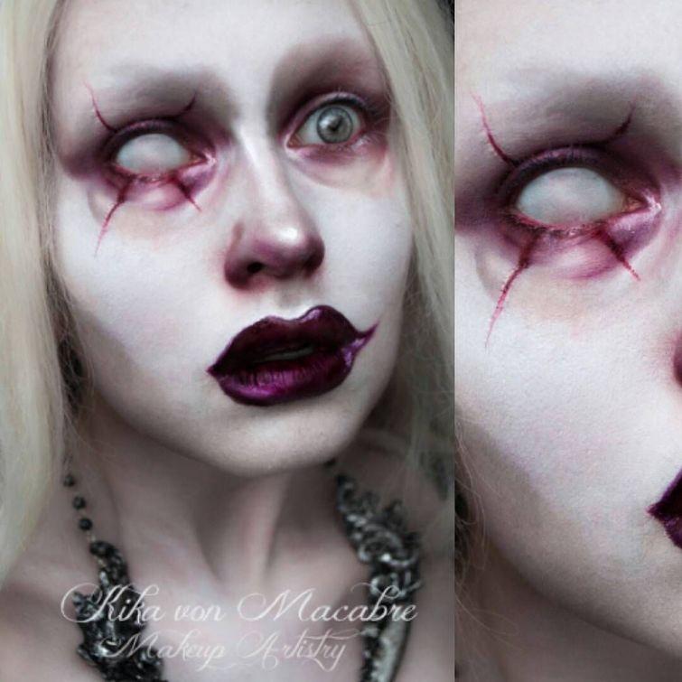 Крутые примеры жуткого макияжа от талантливых визажистов