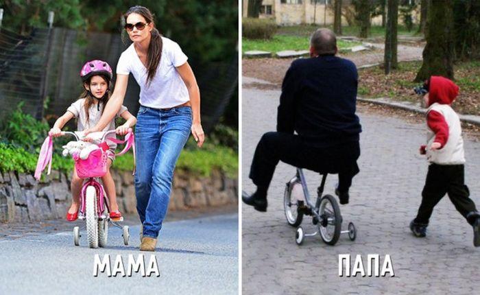 Воспитание ребенка глазами мам и пап