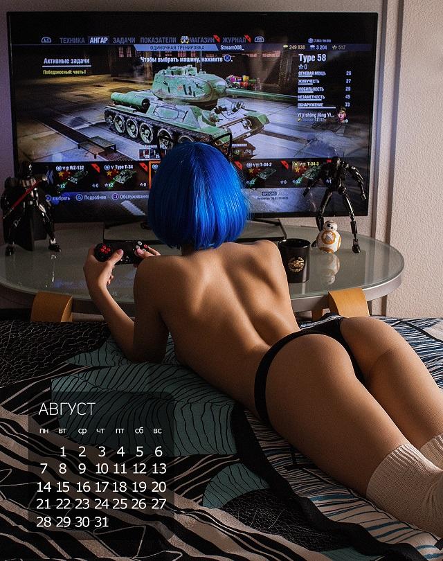 Эротический календарь для виртуальных танкистов World of Tanks