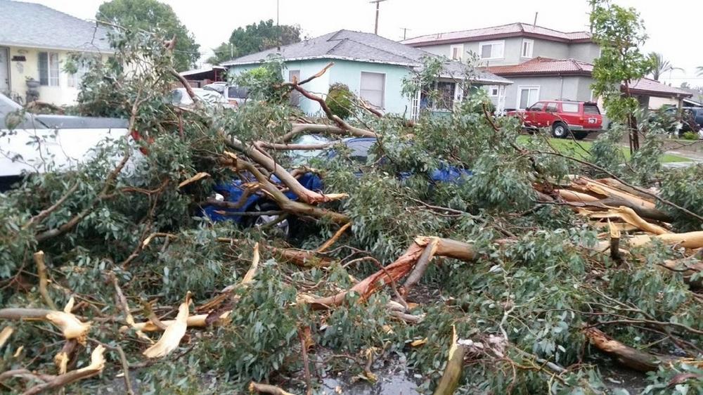 Мощный ураган в Калифорнии