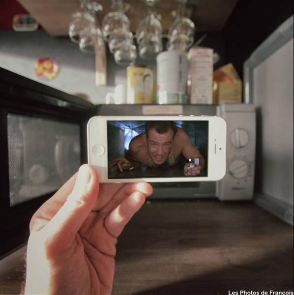 Сцены из фильмов в реальной жизни