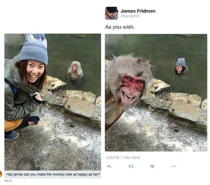 Забавный троллинг от мастера фотошопа