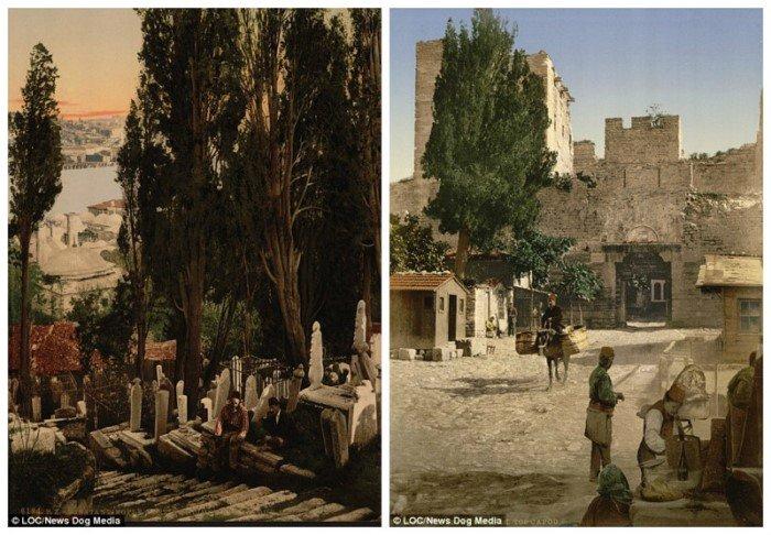Цветные фотографии Константинополя конца 19 века