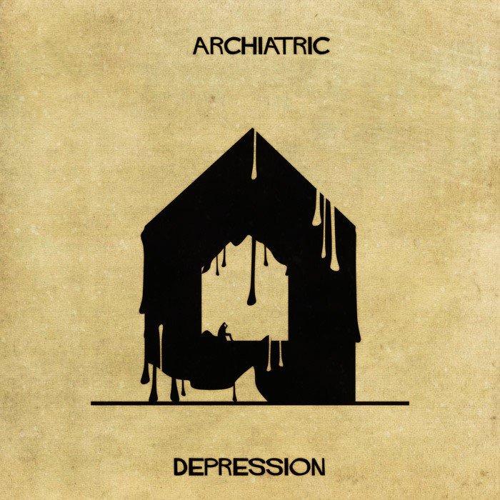 Дизайнер показал психические заболевания с точки зрения архитектуры