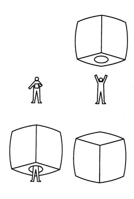 Золотистый куб может стать альтернативой палатке