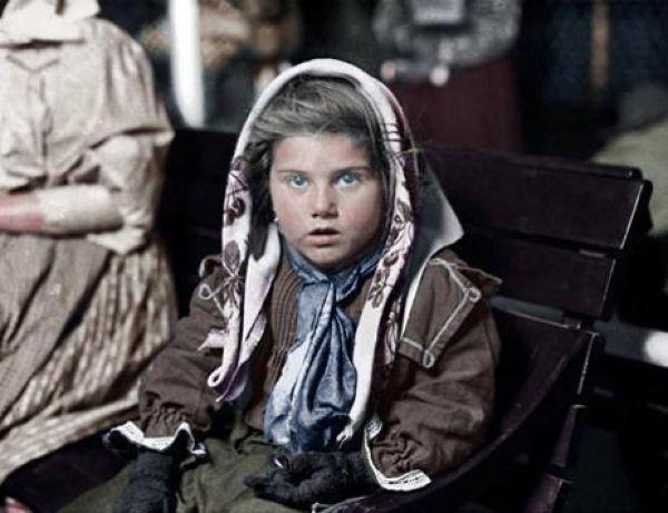 Колоризированные фото эмигрантов, въехавших с США в конце XIX века