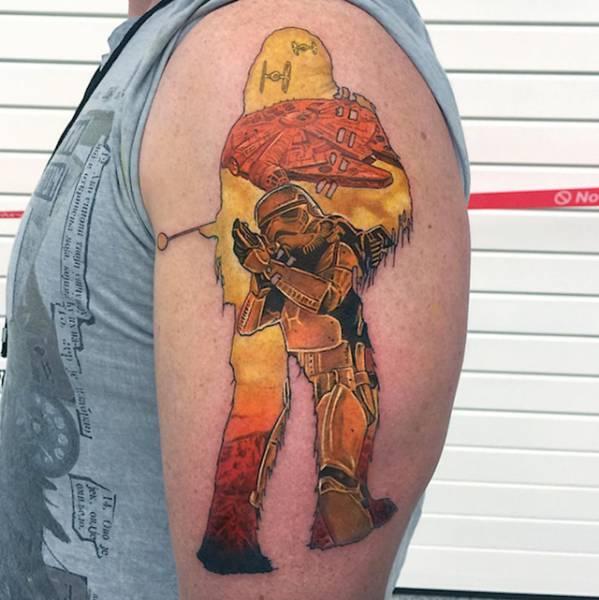 Татуировки с изображением известных героев