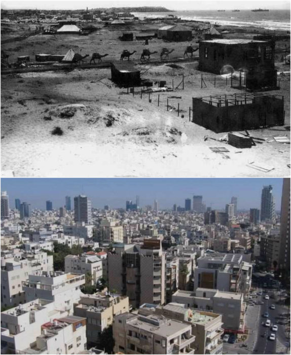 Города Израиля в прошлом и сейчас