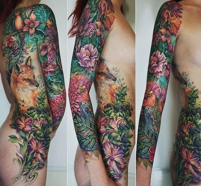 Великолепные татуировки как искусство