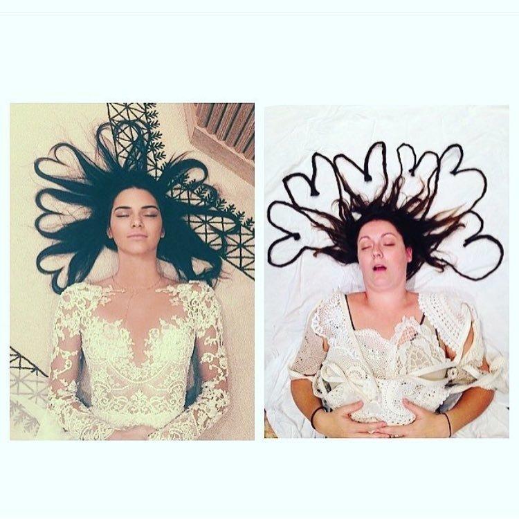 Забавные пародии на Instagram знаменитостей от Селесты Барбер