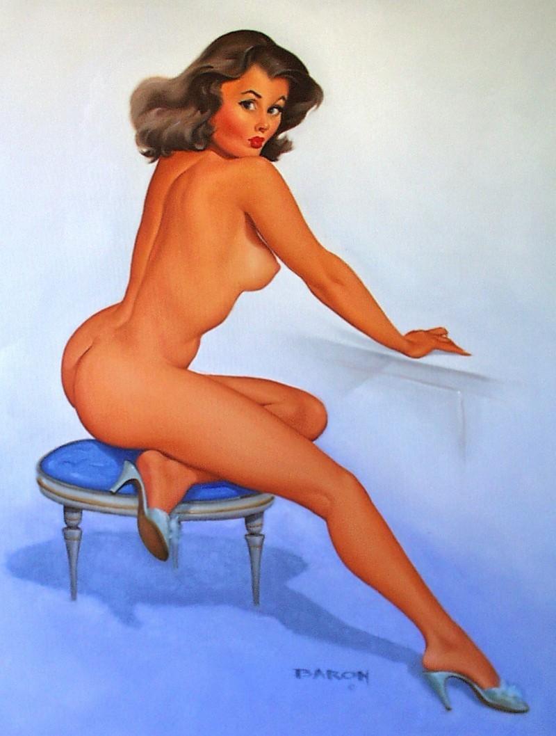 Naked pin up girls