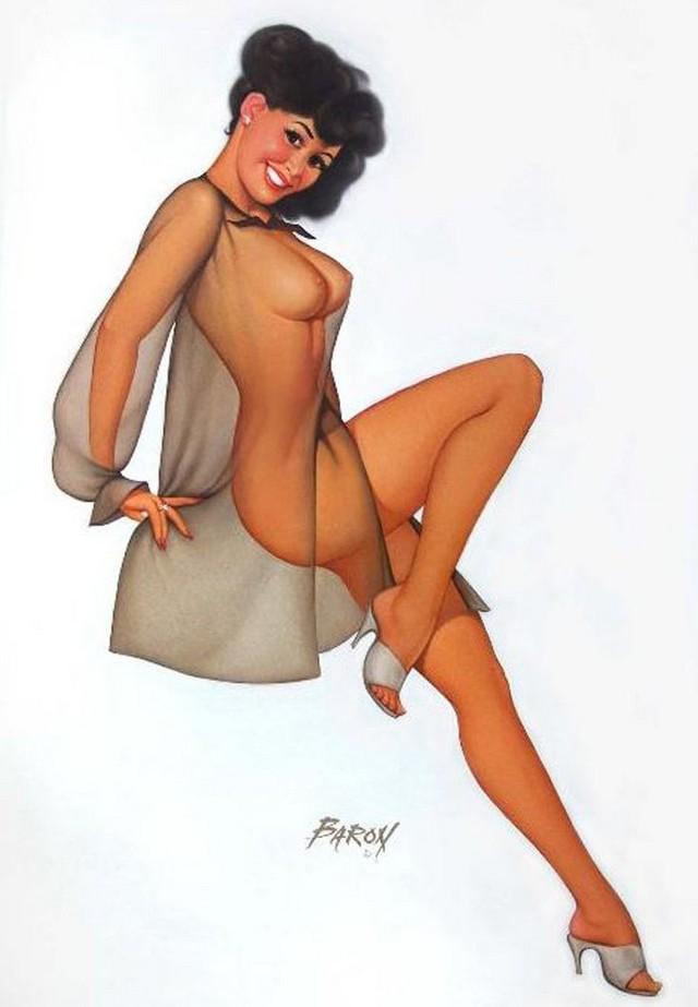 Pin Up рисунки от Baron von Lind