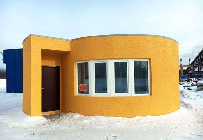 Дом, напечатанный на 3D-принтере