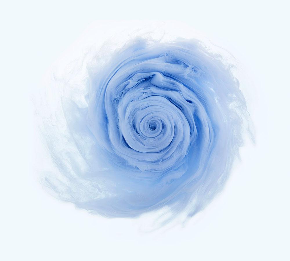Розы из красок и воды от фотографа Марка Моусона