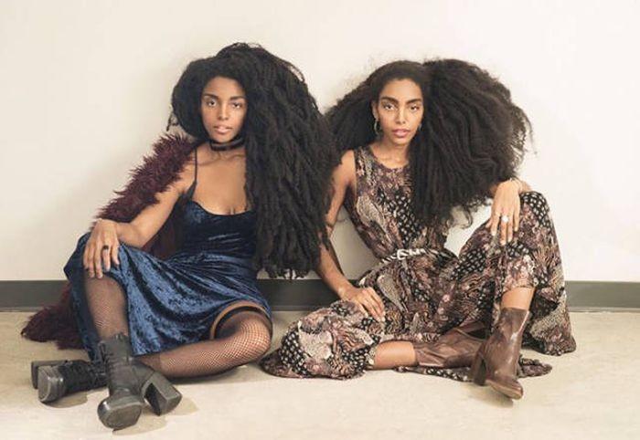 Роскошные волосы принесли успех сестрам-близнецам