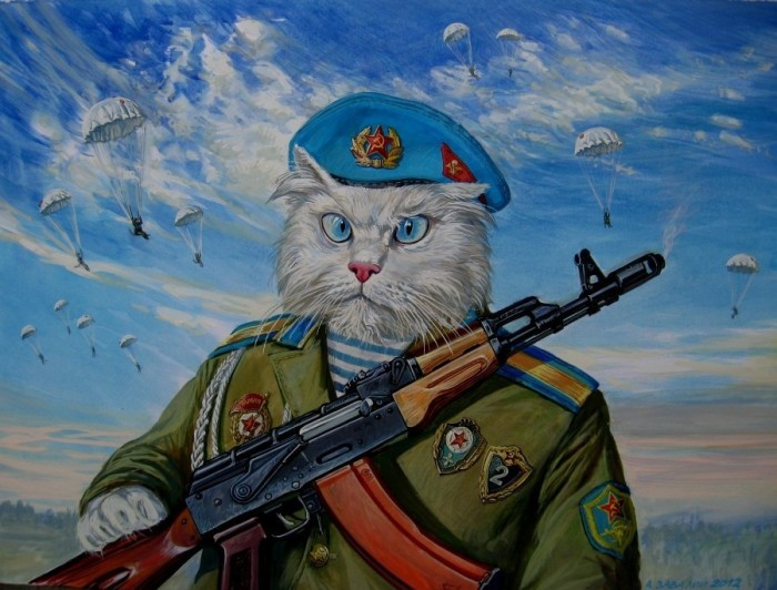 Храбрые мурлыки от российского художника Александра Завалий