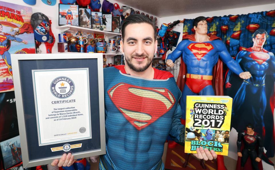 Фанат Супермена, попавший в Книгу рекордов Гиннесса