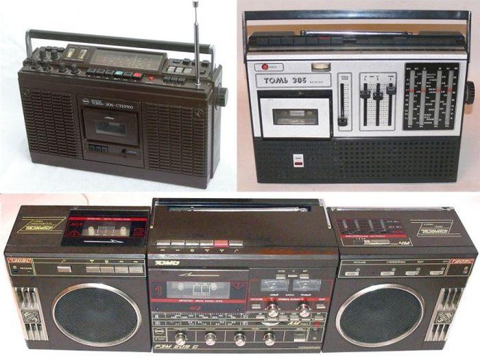 Популярные магнитолы 80-х в СССР