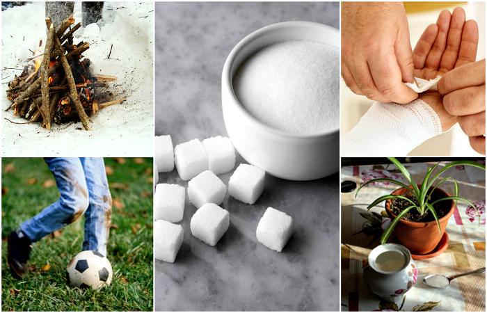 Польза сахара в быту