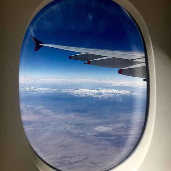 Потрясающий вид из иллюминаторов самолетов