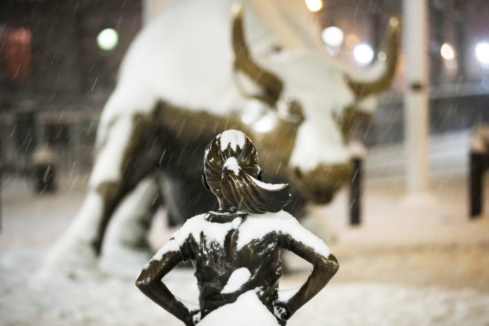 Снежный шторм Стелла на востоке США