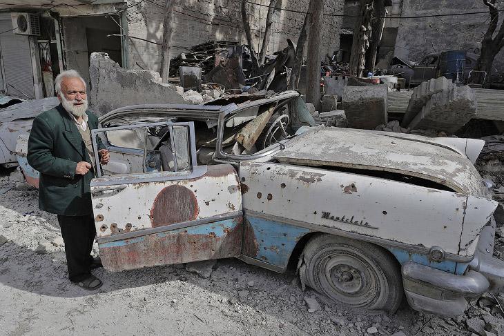 Винтажная коллекция авто похоронена под обломками Алеппо