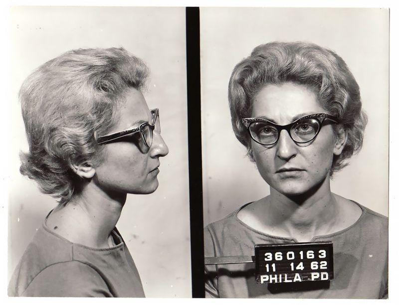 Магшоты американских преступниц 60-х годов прошлого века