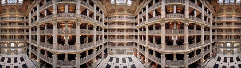 Панорамные снимки библиотек США от Томаса Шиффа