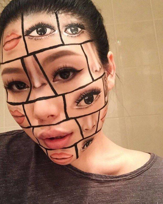Жутковатый макияж от Мими Чой