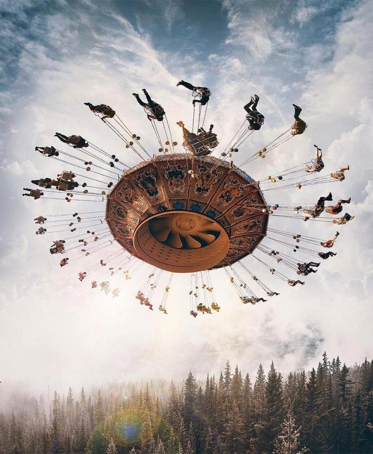 Сюрреалистичные коллажи Хусейна Шахина из настоящих фото