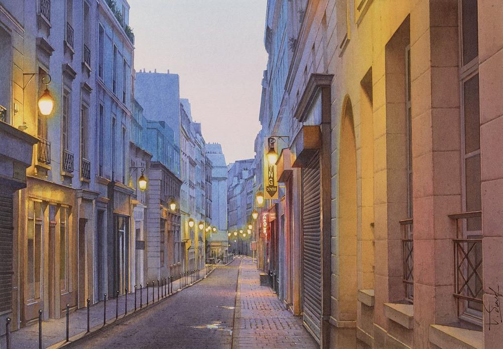 Париж на акварелях Тьерри Дюваля