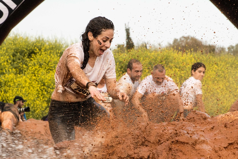 Забег по грязи в Тель-Авиве