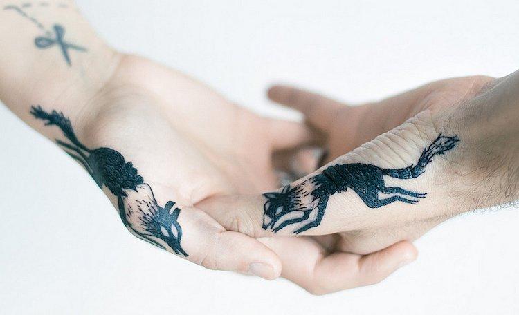 Парные татуировки для влюблённых